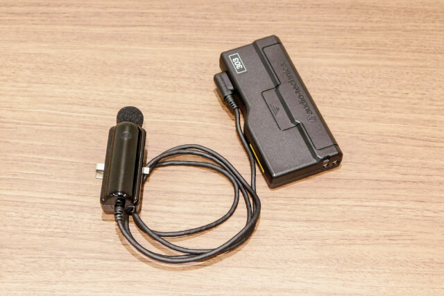 Infrared wireless lavalier microphoneの写真