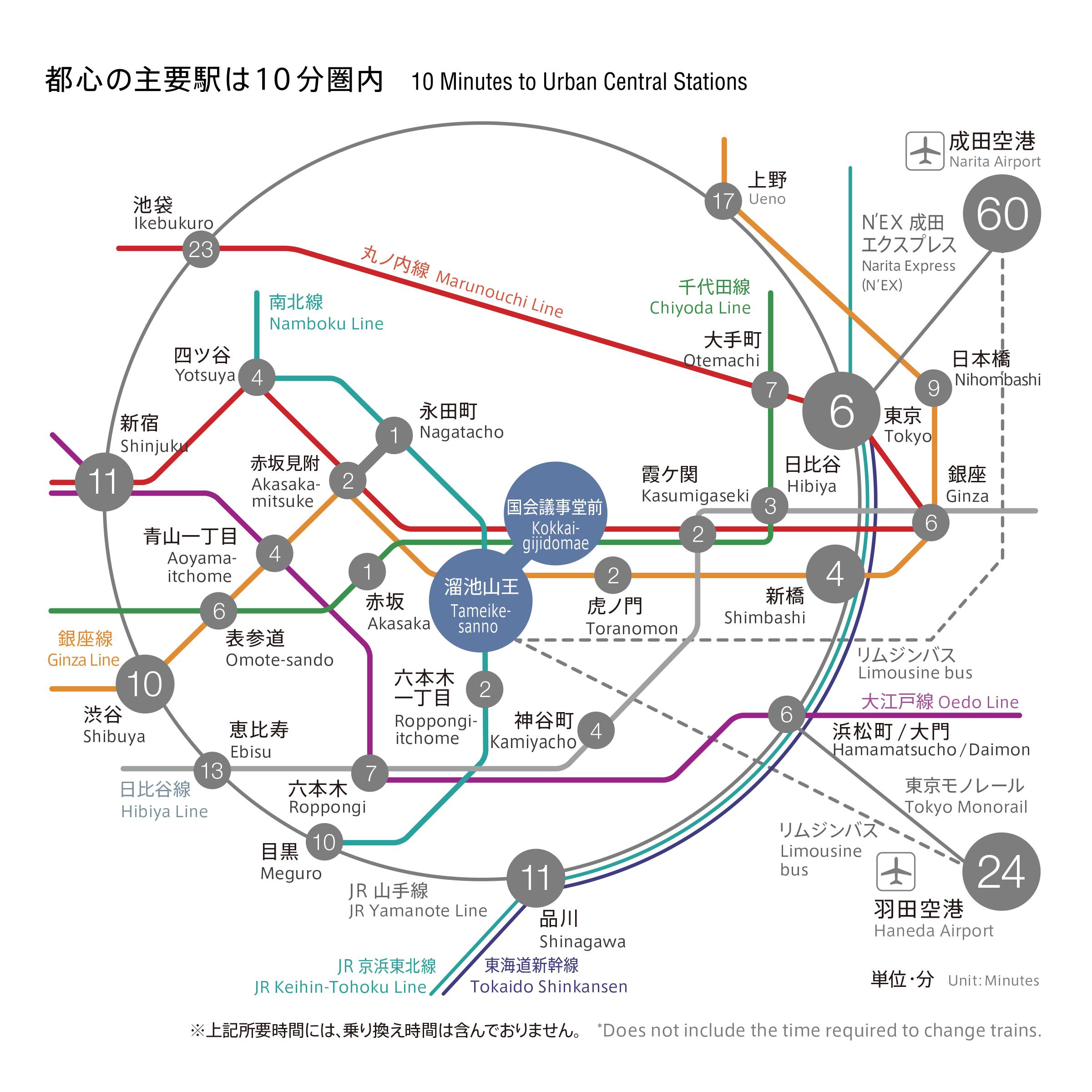 赤坂インターシティコンファレンスまでの路線図情報